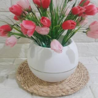 bunga lavender pink artificial bunga hias bunga palsu