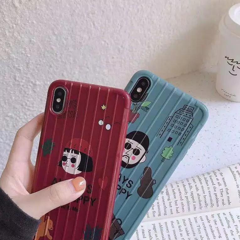 [KODE N64] Happy Girl Boy Case Oppo A5 A9 A31 A12 A3s A5s A7 A1k Realme 5 s 5i C2 Vivo Y91 Y93 Y95 Y