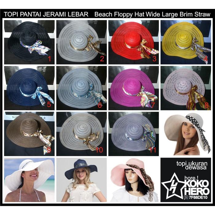 Floppy Hat Custom Nama HIGH QUALITY - topi pantai bordir nama + pita satin hitam | Shopee Indonesia