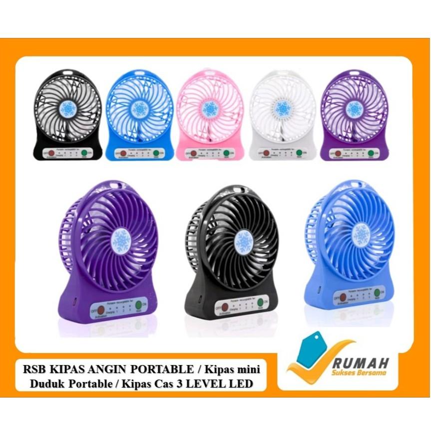Kipas tangan/Handy Mini Fan Portable LED Plus POWERBANK TECKYO Version 04 | Shopee Indonesia
