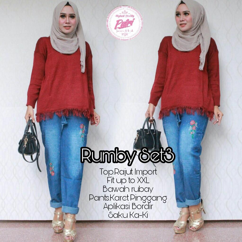 Rumby Set Shopee Indonesia Ayako Fashion Dress Maxi Viola Orange Dan