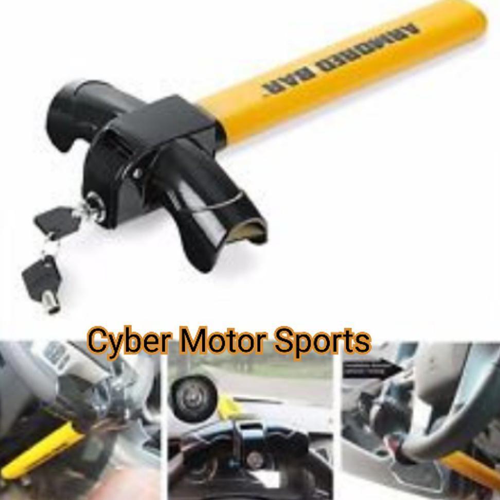 Kunci Stir Mobil Baseball Putar Merah Kuning Pengaman Oklock P1 Safetylock Shopee Indonesia