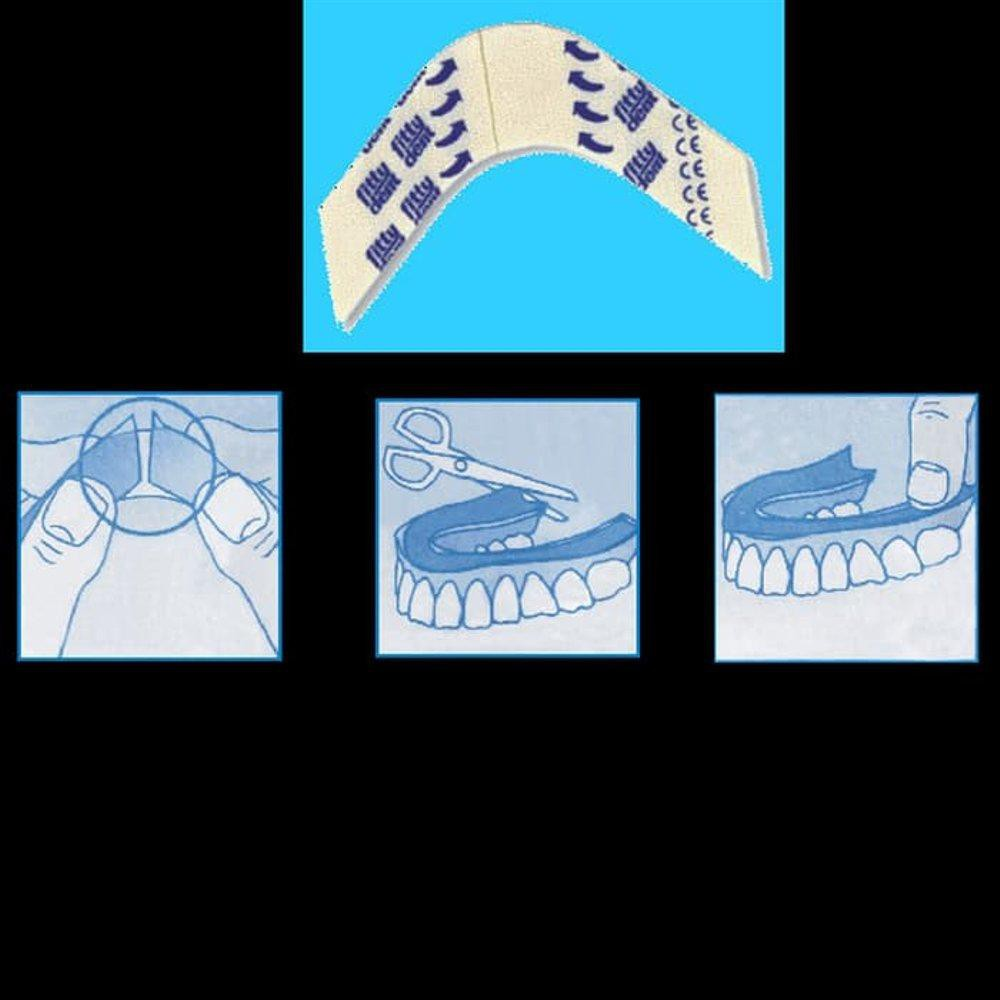 Fittydent cushion denture adhesive lem gigi palsu rahang bawah onde