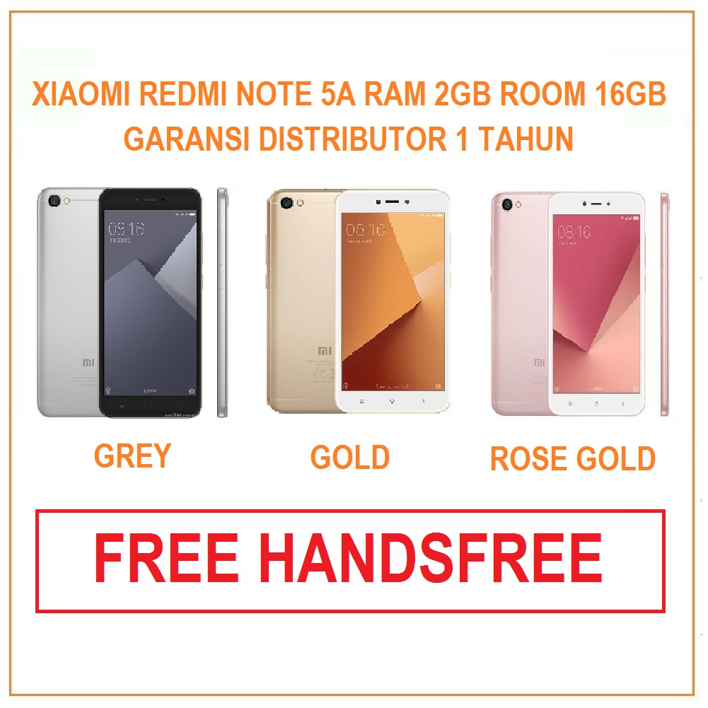 Xiomi Redmi Note 5a 2gb 16gb Shopee Indonesia Segel Tam
