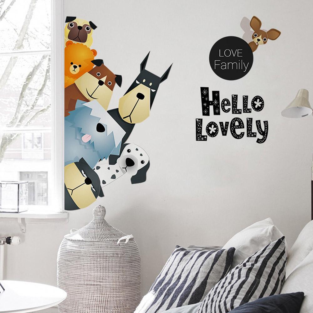 Stiker Dinding dengan Bahan Mudah Dilepas dan Gambar Kartun untuk Dekorasi  Kamar Anak