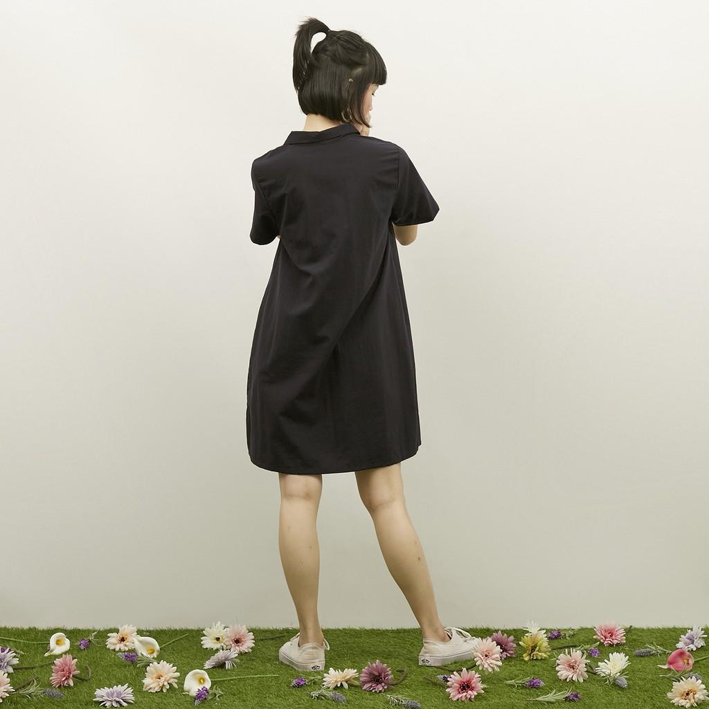 WFH Clothing Polyester Arka Tunic Navy - Dress  Wanita Casual-1
