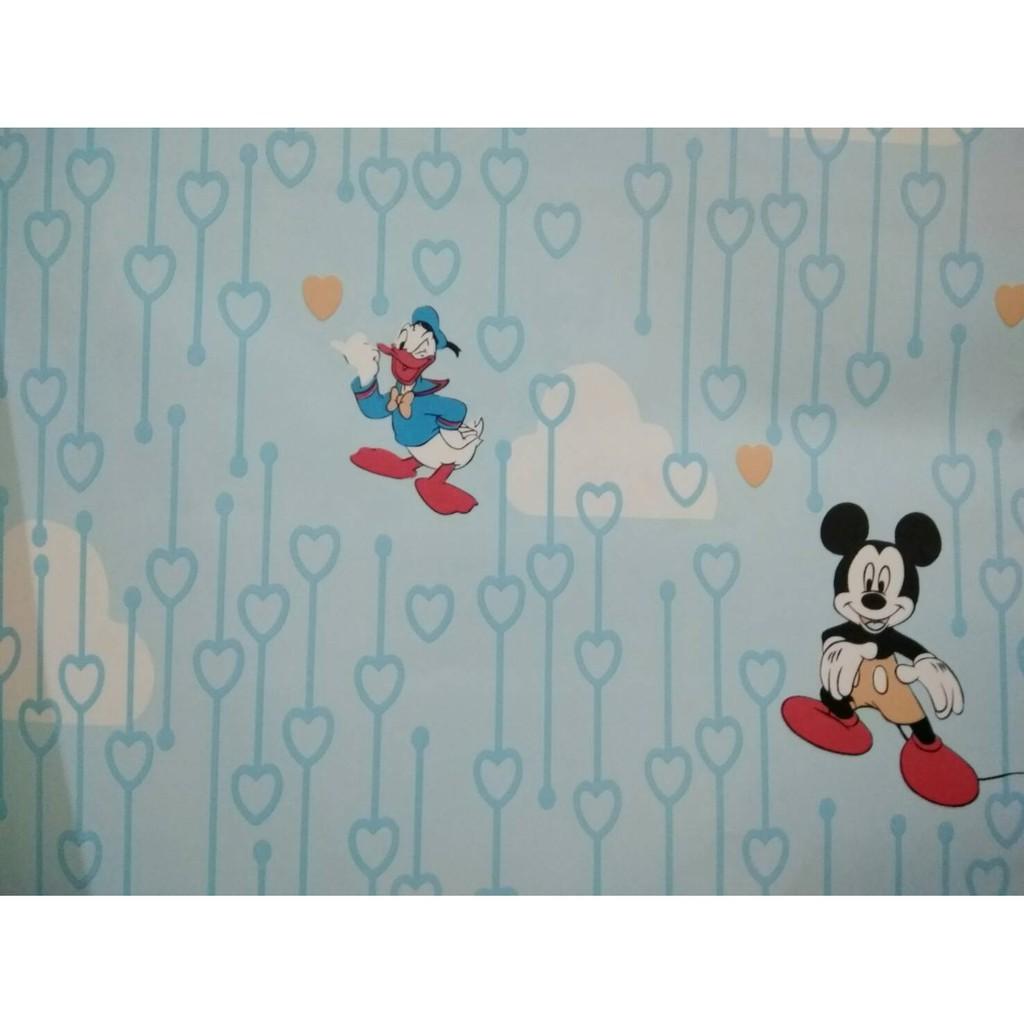 Wallpaper Dinding Motif Mickey Mouse Wallpaper Disney Motif Wallpaper Lucu