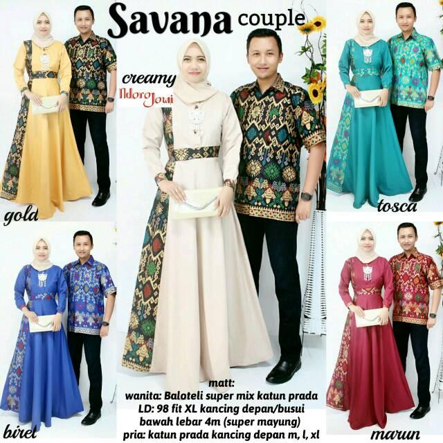 HEBOH!!! Baju Batik Couple Gamis Savana Harga Grosir Termurah ... 399a5e4b12