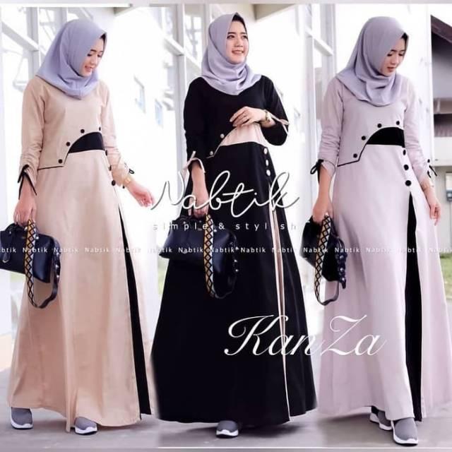 Dress Wanita Muslimah Cantik Baju Gamis Dewasa Wanita Terbaru Dress Termurah Baju Muslim Shopee Indonesia