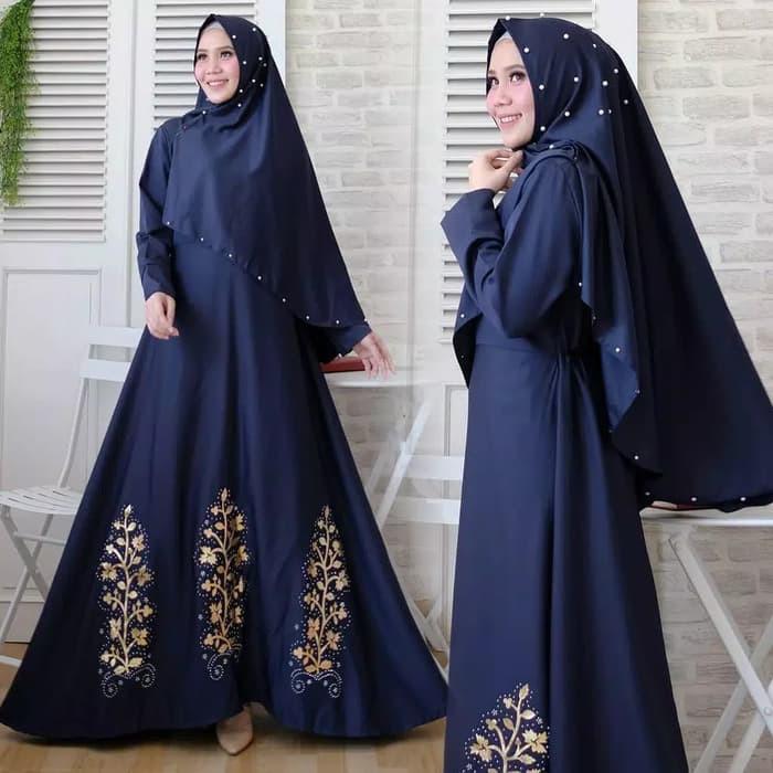Gamis Syari Wanita Busana Muslim Muslimah Jubah Gaun Maxi Dress Hg280 Shopee Indonesia