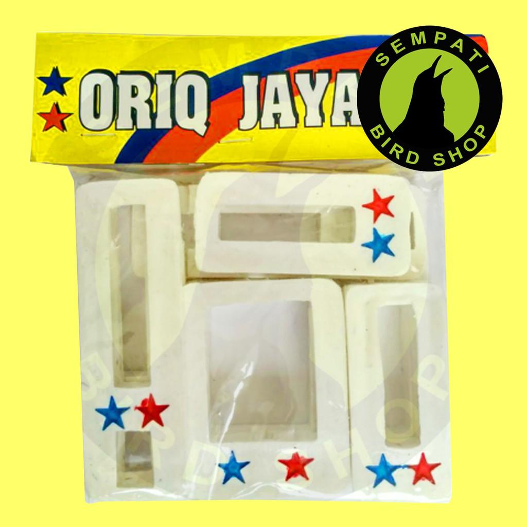 Gantungan Sangkar Burung Logo Oriq Silver Jaya Shopee Indonesia Karet Anti Slip Kandang Murai Kacer Anis Lovebird Kenari Pleci Cucak Dll
