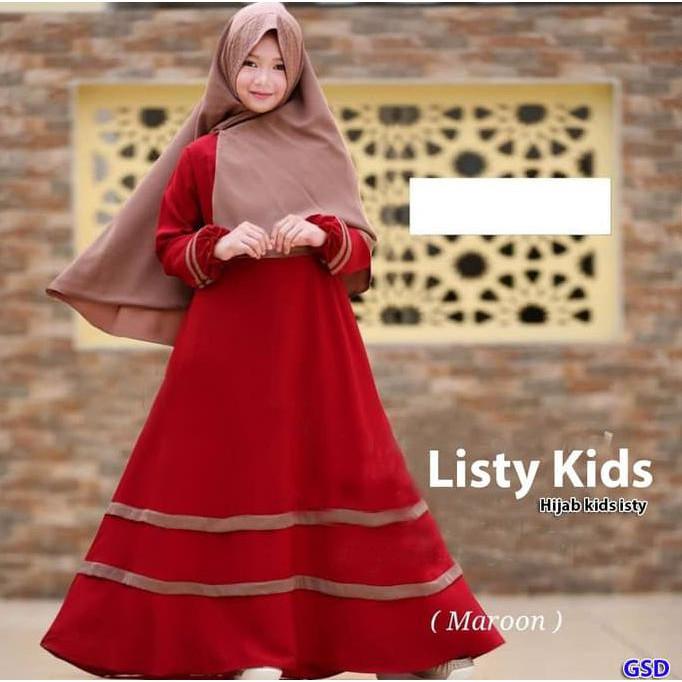 Best Price Fayrany Fgd-004 Size 7 - 12 Busana Muslim Gamis Denim Anak -