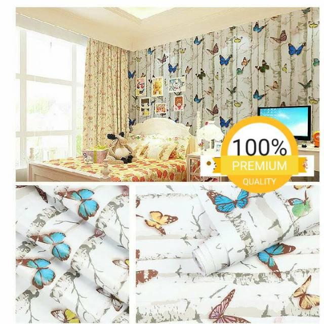 Wallpaper dinding murah ruang tamu rumah kamar tidur anak ...