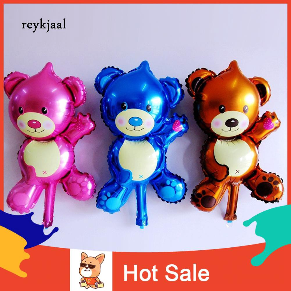 Mainan Balon Udara Mini Bentuk Kartun Hewan Beruang Untuk Dekorasi Pesta Ulang Tahun Pernikahan