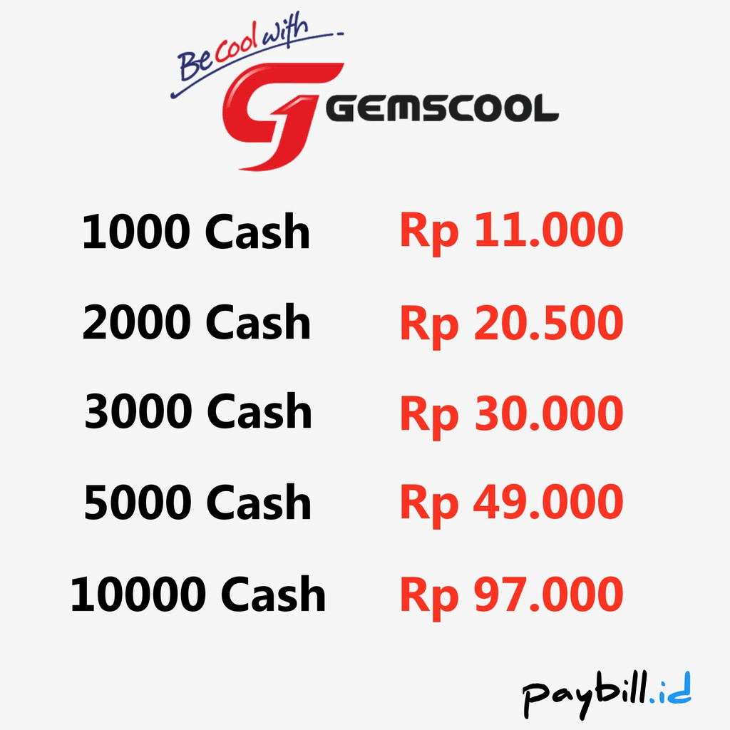 Gemscool 3000 G Cash Shopee Indonesia 500000