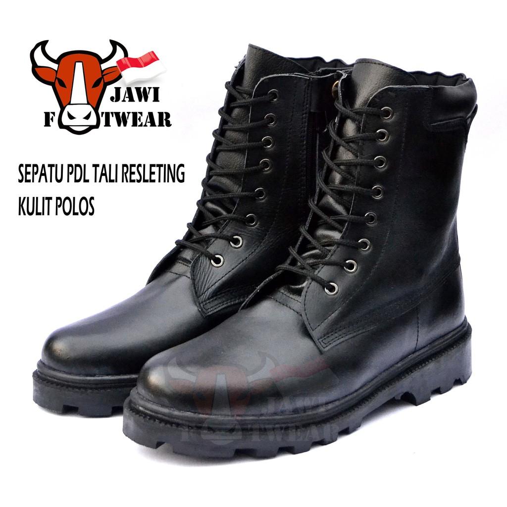SEPATU PDH TNI POLRI SECURITY SEPATU PANTOFEL PDH 03 TALI B HITAM ... 051fc084a3