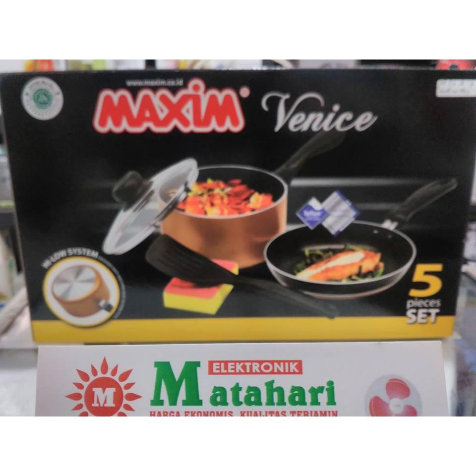 Wajan Panci Teflon Maxim Venice Set Isi 5 Shopee Indonesia Pcs Maspion