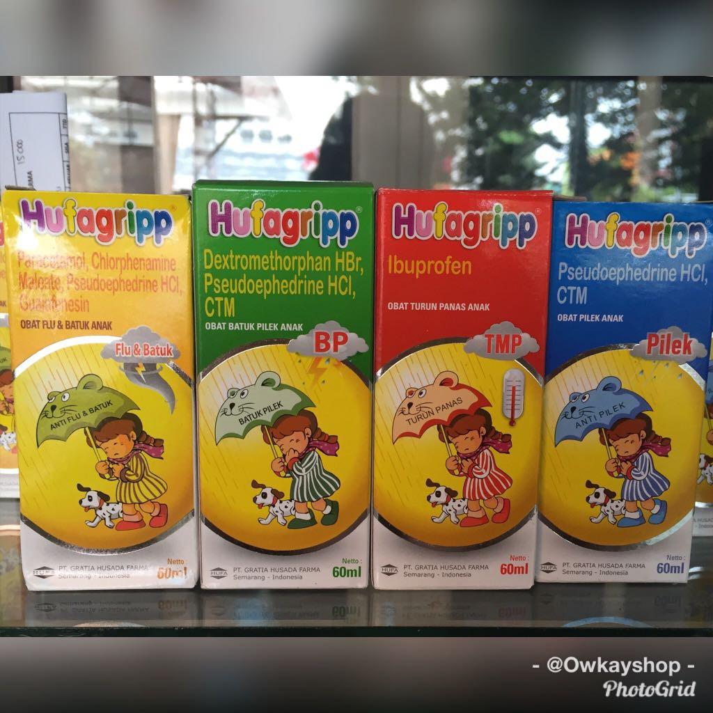 Hufagrip Syrup 60 mL Batuk Pilek BP, Flu & Batuk, Pilek, TMP Turun Panas (demam) | Shopee Indonesia