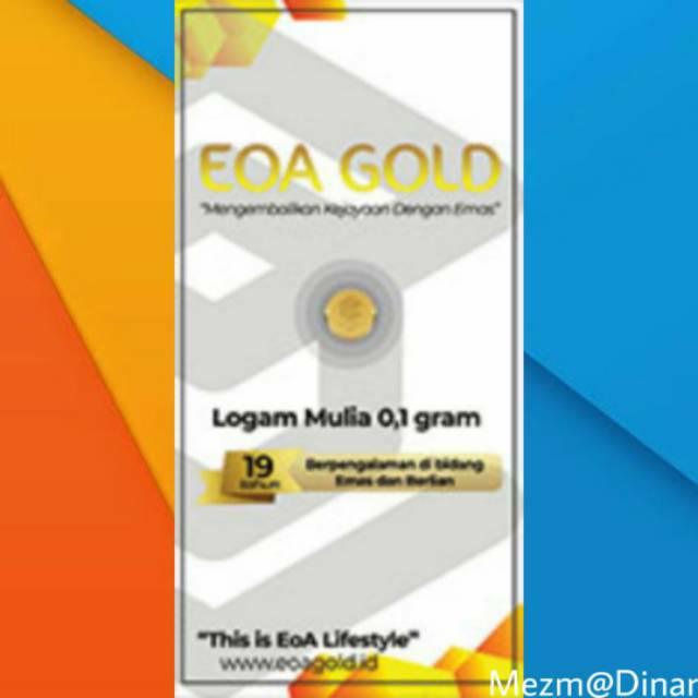 Logam Mulia Lm Emas 0 1 Gram Eoa Gold Bersertifikat Asli Shopee Indonesia