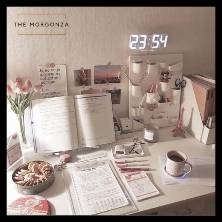 Themorgonza 3d Led Digital Watch Aesthetic Jam Meja Belajar Shopee Indonesia