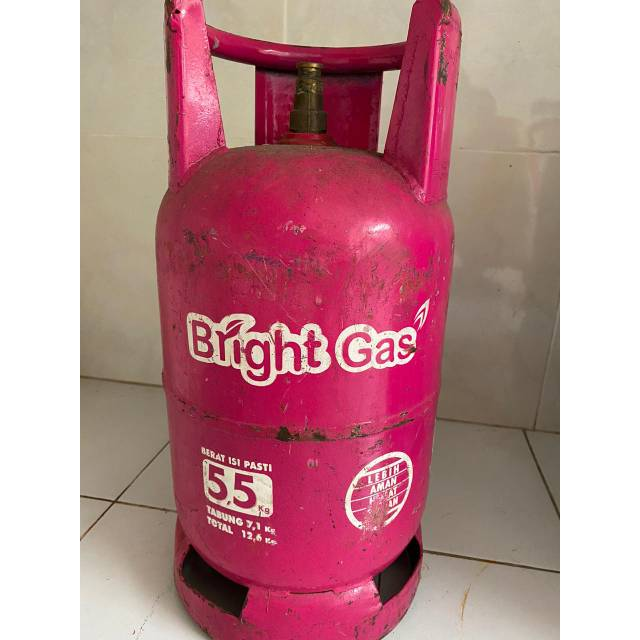 Tabung Bright Gas 5 5 Kg Tabung Saja Shopee Indonesia