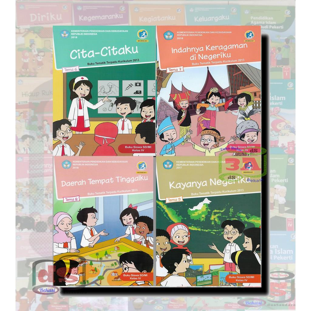 Buku Siswa Kelas 4 Sd Paket Semester 2 Kurikulum 2013 Edisi Revisi 2018 Shopee Indonesia