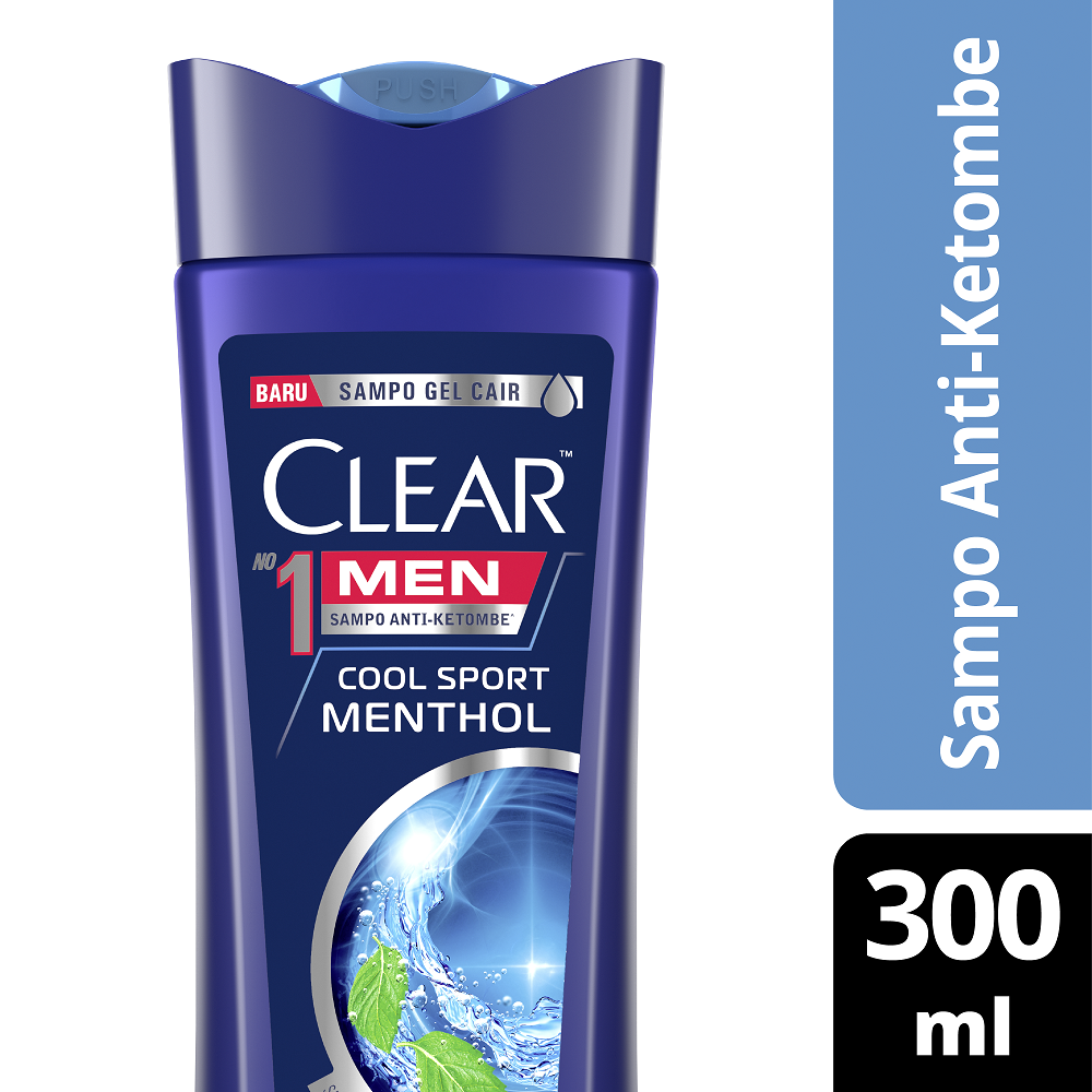 Clear Men Shampoo Cool Sport Menthol 300 Ml - Shampo Pria, Shampo Menthol