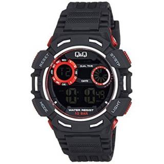 Jam Tangan Pria Q Q M148J001Y Original QnQ M148J Rubber QQ M148 Q M 148 Anti  Air Water Resist 10 Bar bb86fa9bd5