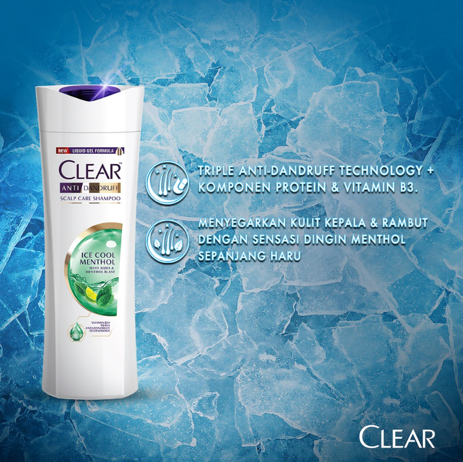 Clear Shampoo Ice Cool Menthol 300 Ml - Shampoo Anti Dandruff, Sampo Anti Ketombe-3
