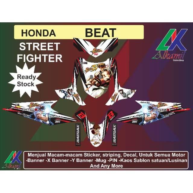 Decal Sticker Motor Honda Beat Street Fighter Shopee Indonesia