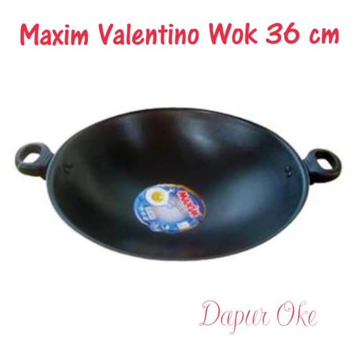 MAXIM Valentino Set Alat Masak isi 2pcs : Wajan Wok dan Frypan | Shopee Indonesia