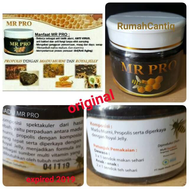 HWI Mr Pro Madu Murni Propolis Penambah Nafsu Makan & Penggemuk 200g   Shopee Indonesia
