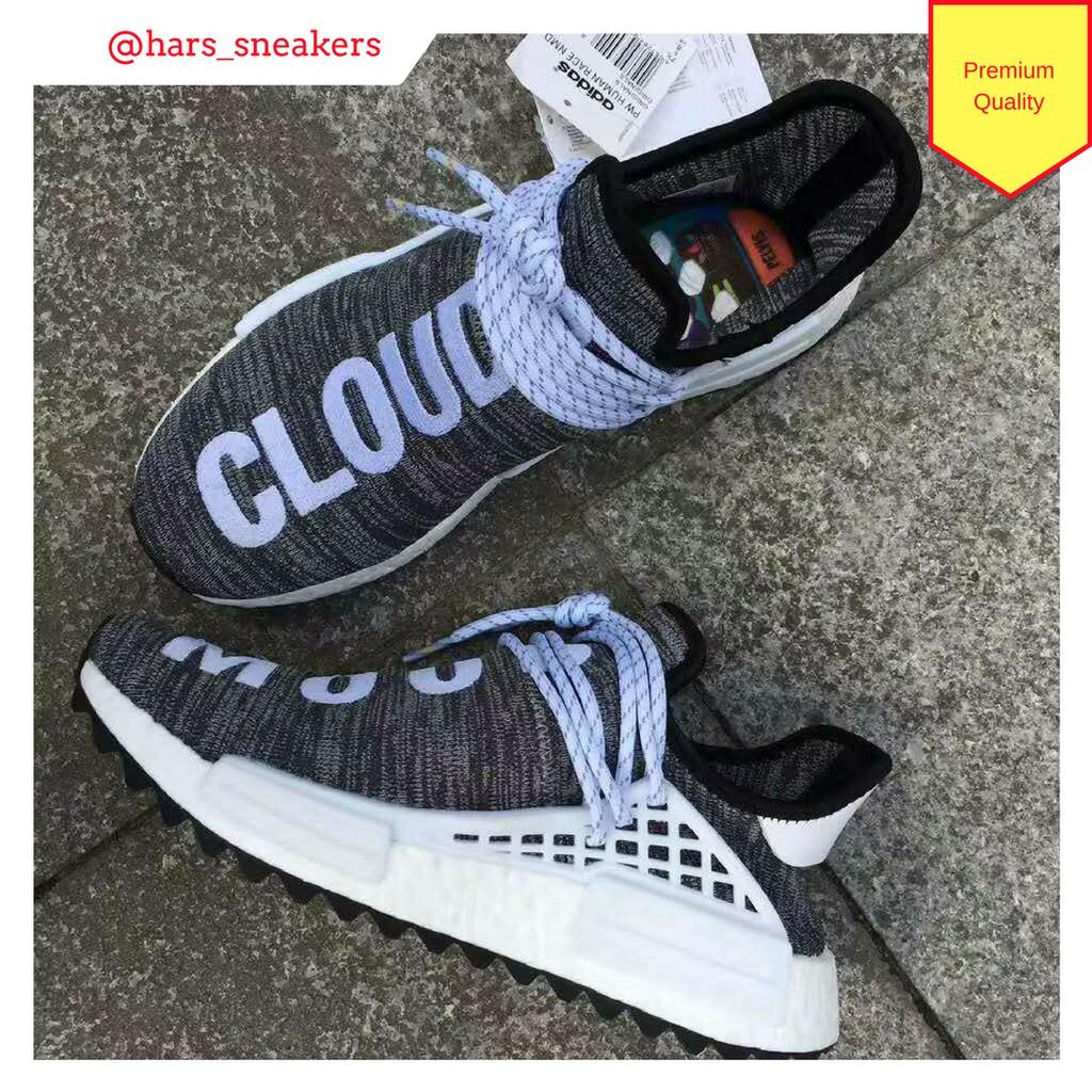 54a91a66e59e2 Sepatu Pharrell Human Race x Adidas NMD CLOUD MOOD Grey Premium Quality