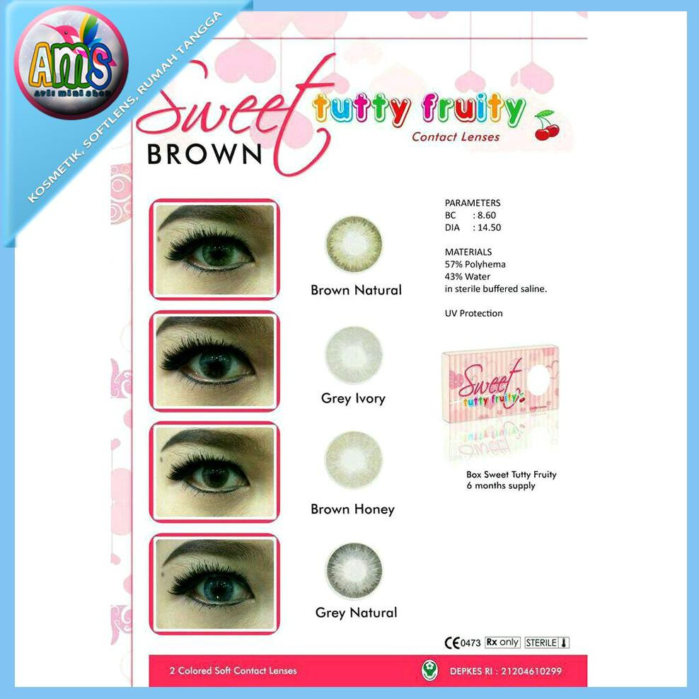Soflens V1 Xpose Softlens V1 Xpose Color Contact Lens Kemenkes Blue Source · Softlens tutty fruity 4all 4 all softlense softlen brown coklat Shopee ...