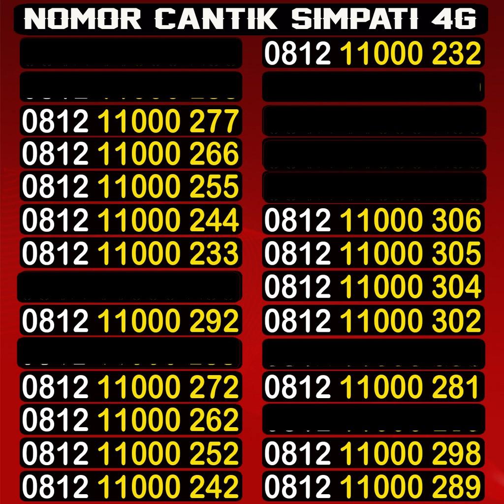 Kartu Perdana Simpati Telkomsel Nomer Nomor Cantik Nocan Jaringan Internet 4G Murah 0812 812233 65 | Shopee Indonesia