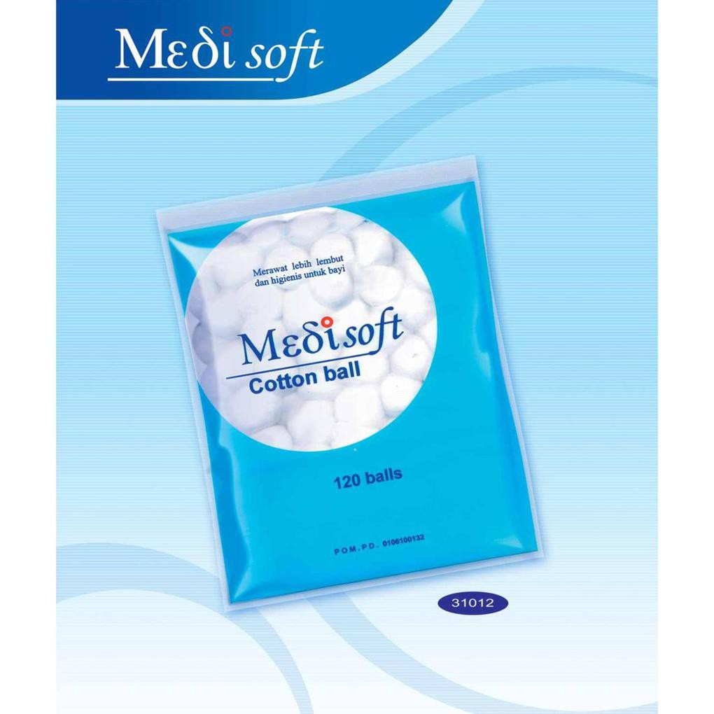 Promo Medisoft Cotton Ball Isi 120 Kapas Bola Bulat Bayi Shopee Wellness Gulung 1kg Pembersih Pantat Indonesia