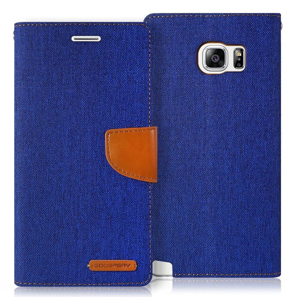 Canvas Diary Goospery Mercury Flip Cover Case BLUE Samsung Zenfone LG | Shopee Indonesia