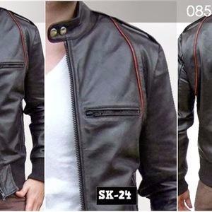 Termurah Jaket Kulit Ariel Noah SK24 Hitam List Merah cocok buat mudik | Shopee Indonesia
