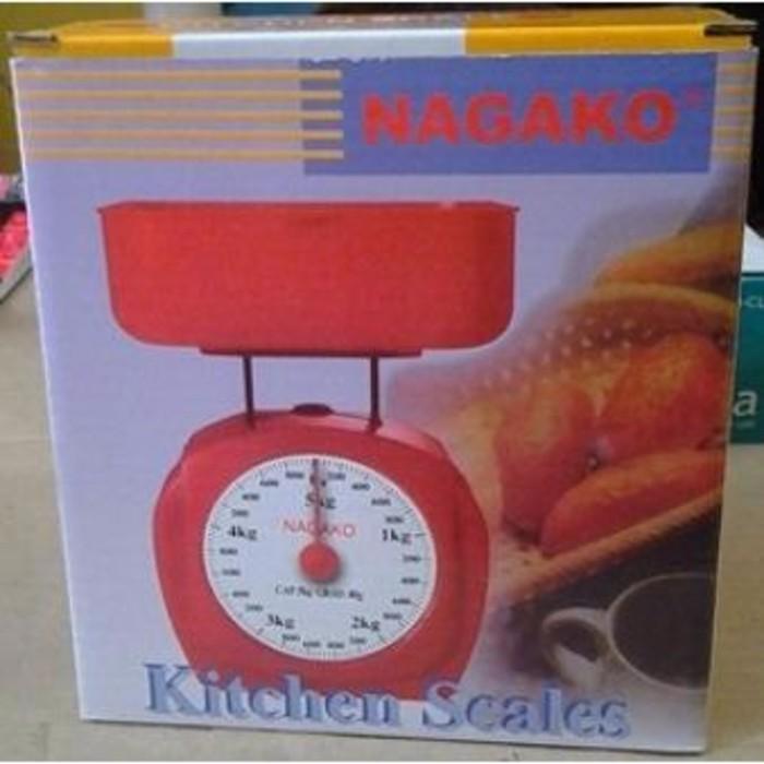 Timbangan Manual Plastik fujika / Ken master / Nagako Kitchen Scales 2kg - 5kg   Shopee