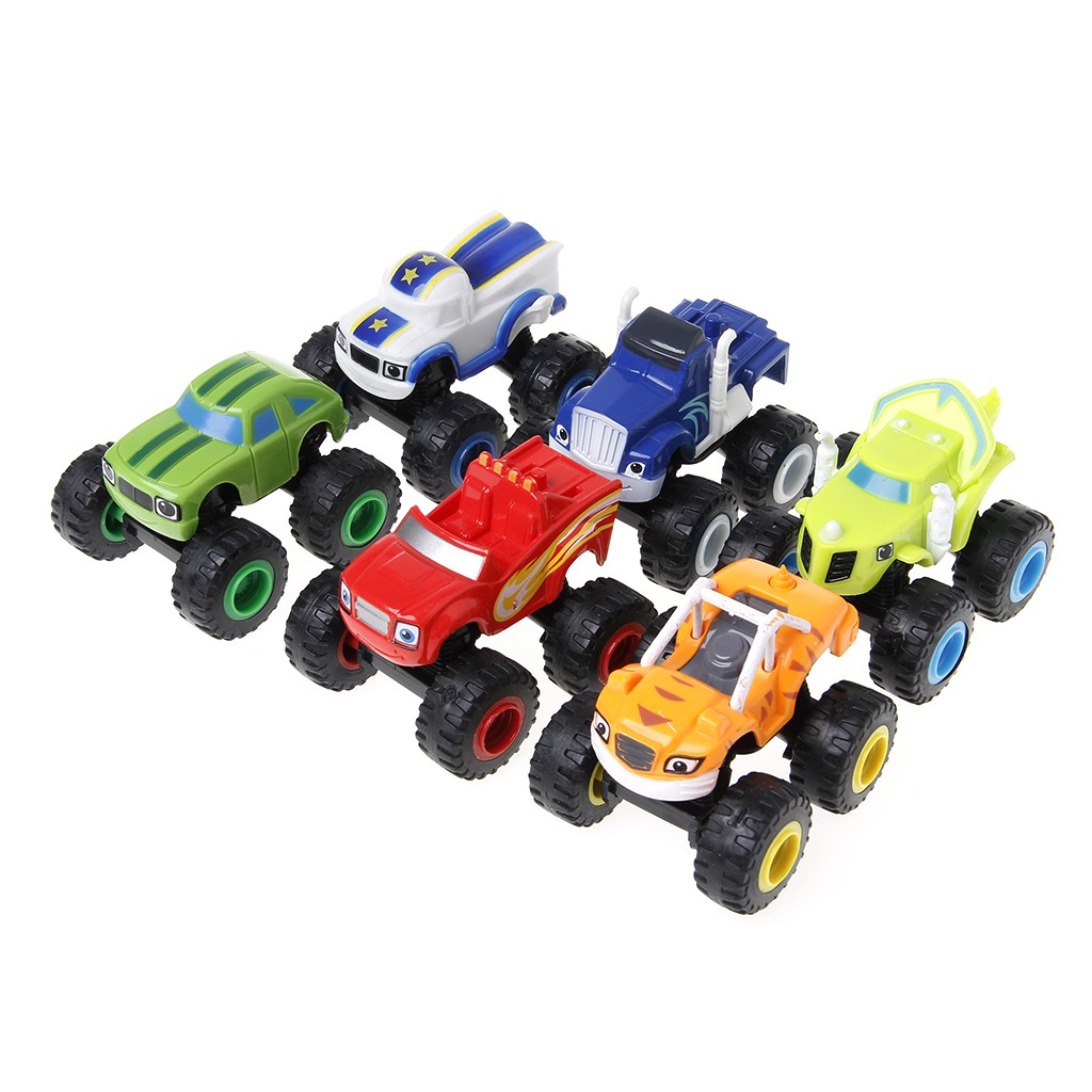 Blaze Machines Vehicle Toy Racer Cars Truck Toys Gifts For Kids Shopee Indonesia