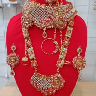 Kalung bridal set pengantin/kalung fashion/perhiasan India ...