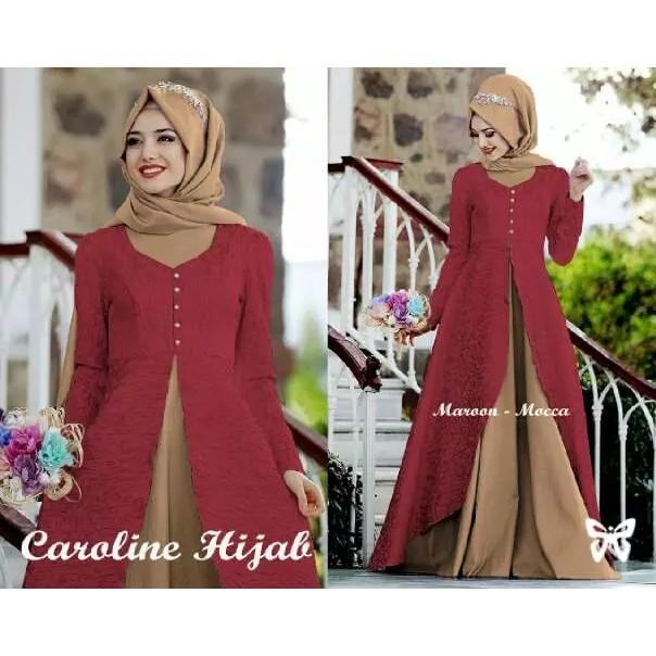 AB (agen baju ) MAXI EMMA motif bunga gamis perempuan terbaru busana pesta wanita  muslim party dress  bd02419728