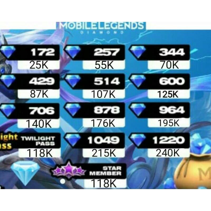 257 Diamond mobile legends murah nih