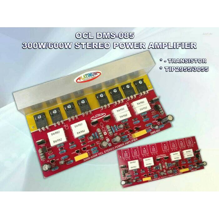 Kit Amplifier OCL Stereo DMS - 085 + TR Final