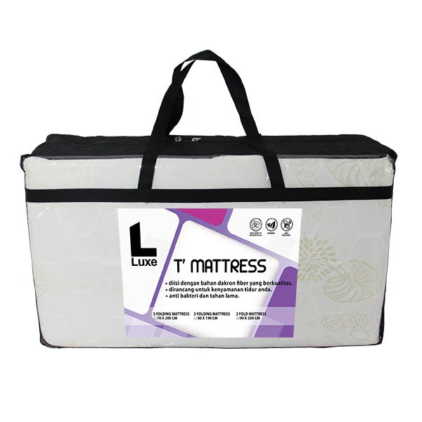 Kasur Lipat | The Luxe T Mattress 5 Folding White