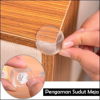 6gr E12 Pelindung Sudut Meja Silikon Oval Transparan Siku Pengaman Kaca Anak
