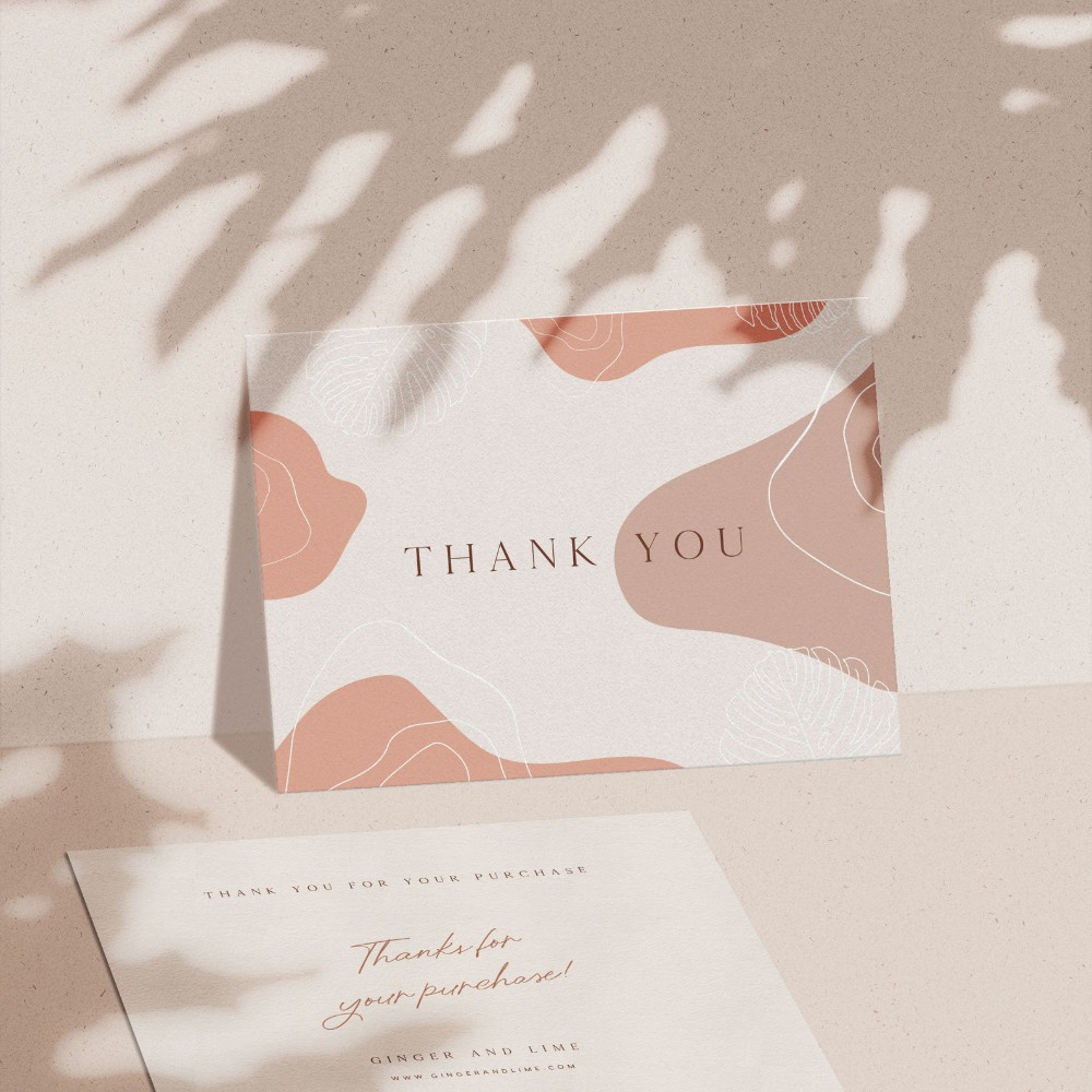 cetak thank you card  kartu ucapan terima kasih custom
