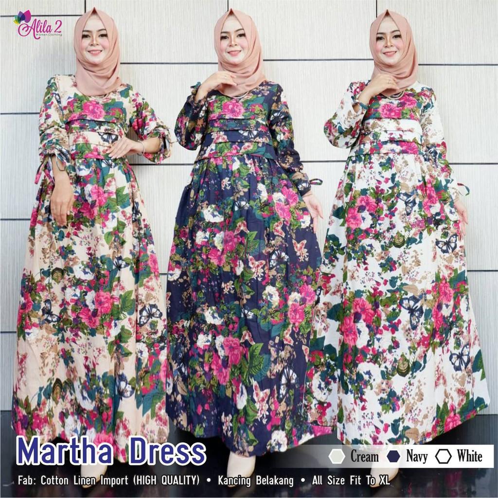 26 Baju Gamis Bunga2 Model Baju Gamis Celana Sepatu