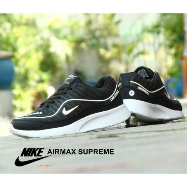Sepatu Nike Airmax Zoom GRADE ORI Full White Putih Sport Casual Pria Wanita   89da5f9ddb