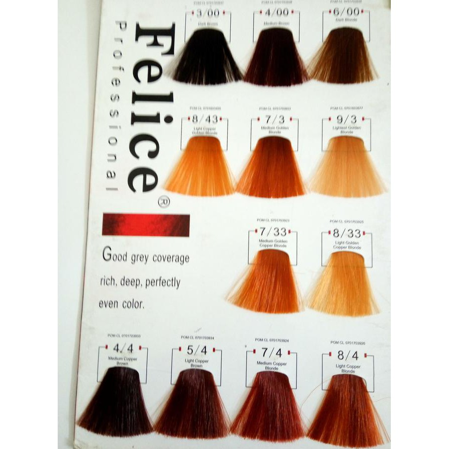 Felice Hair Color 60ml Semir Rambut Cat Shopee Indonesia Feves Cream Besar